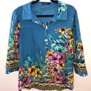 Floral print shirt Simple brand